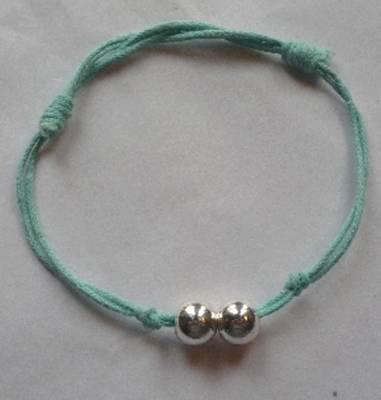 Bracelet boules argent