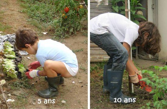 Jardiner en herbe