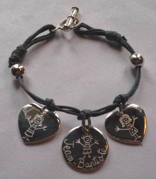 Bracelet argent fermoir argent : 92.00 €