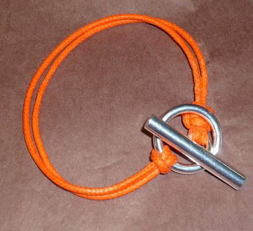 Bracelet en lien ciré et argent Diane : 52.00 €