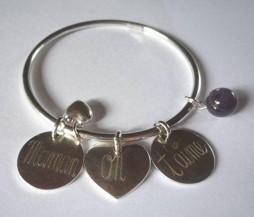 Bracelet jonc argent : 108.00 €