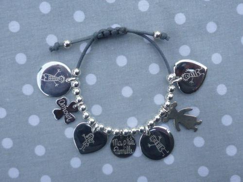 "Bracelet ""Ma P'tite Famille"" : 147.00 €"